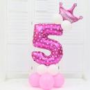 композиция «цифра с короной» доставка шаров, воздушные шары, шарики с гелием, воздушные шары, воздушные шары спб