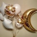 шар полумесяц доставка шаров, воздушные шары, шарики с гелием, воздушные шары, воздушные шары спб