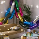 воздушная цепь доставка шаров, воздушные шары, шарики с гелием, воздушные шары, воздушные шары спб
