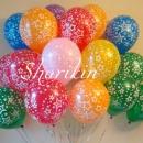 фонтан из шаров «звезды» доставка шаров, воздушные шары, шарики с гелием, воздушные шары, воздушные шары спб
