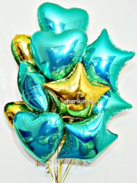 букет шаров «тиффани» доставка шаров, воздушные шары, шарики с гелием, воздушные шары, воздушные шары спб