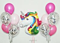 набор шаров «единорог 2» доставка шаров, воздушные шары, шарики с гелием, воздушные шары, воздушные шары спб