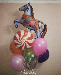 фонтан «цирк» доставка шаров, воздушные шары, шарики с гелием, воздушные шары, воздушные шары спб
